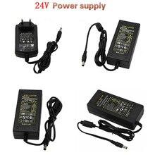 AC100 240V Om DC24V 1A 2A 3A 4A 5A 6A 24V Power Adapter Voeding led Verlichting Schakelaar Transformers Driver Oplader EU/US/UK/AU Plug