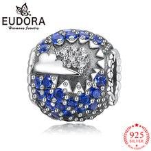 Женские браслеты и ожерелья eudora из серебра 925 пробы с синим