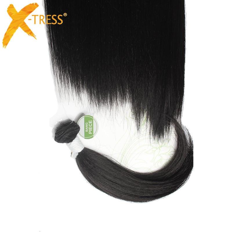 X-TRESS Syntetisk Yaki Straight Hair Bundles 6Pcs / Pack 12 14 16 - Syntetiskt hår - Foto 4