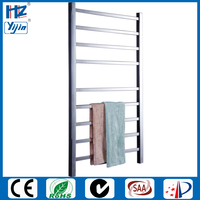 polished stainless steel electric towel warmer bathroom rack Heated towel rail HZ 919AS