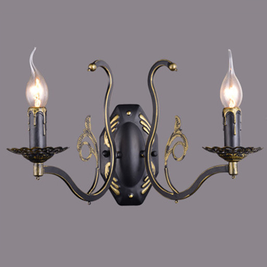 European Style iron Wall Light with E14 base, Candle Wall Lights Lamp For Porch, Living Room and Home Decoration great wall style building home with jim spear