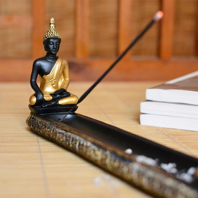 tailandia buda resina quemador de incienso palo jardn zen suministros poseedor de incienso de con