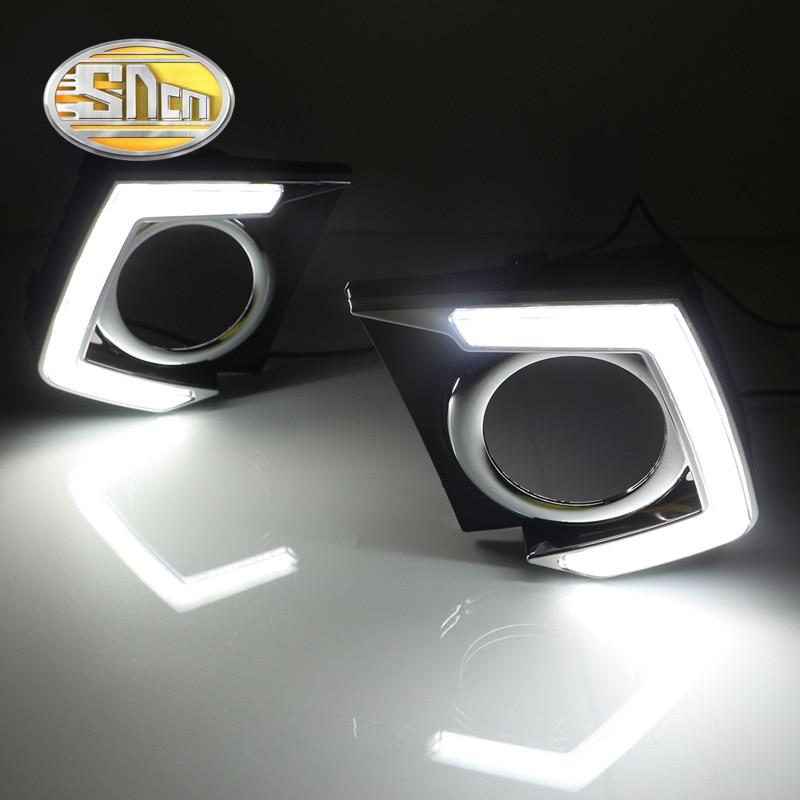 Для Мицубиси Тритон Л200 2015 2016,затемнения Стиль реле Водонепроницаемый 12 В хромированное покрытие автомобиля LED DRL дневного света SNCN