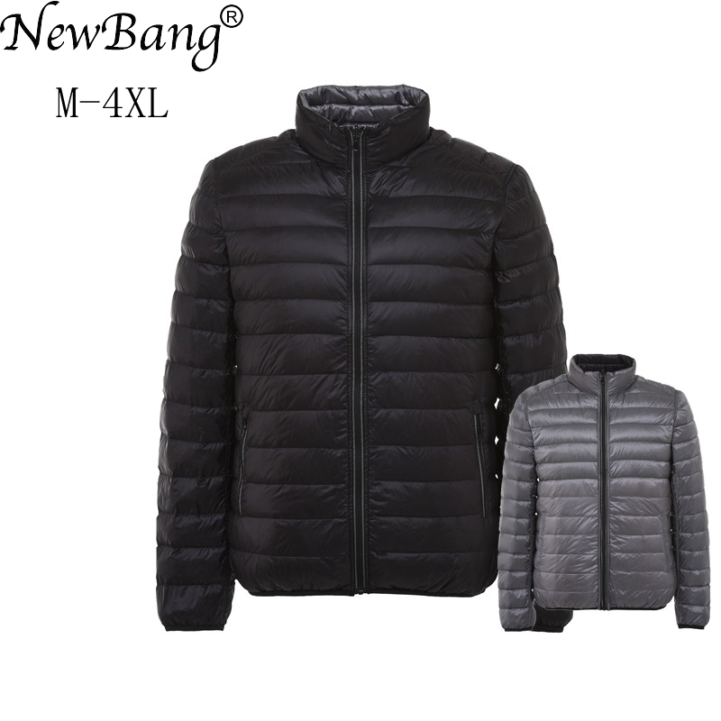 NewBang Brand Men's Down Jacket Ultra Light Down Jacket Men Autumn Winter Double Side Feather Reversible Lightweight Warm Parka