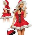 Envío ShippingSantas lindo vestido Sexy Lingerie Sexy dormir vestido adulto atractivo de la mujer traje traje de la navidad