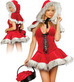 Free ShippingSantas Cute Dress Sexy Lingerie Sexy Dress Sleepwear Adult Women's Sexy Christmas Outfit Costume