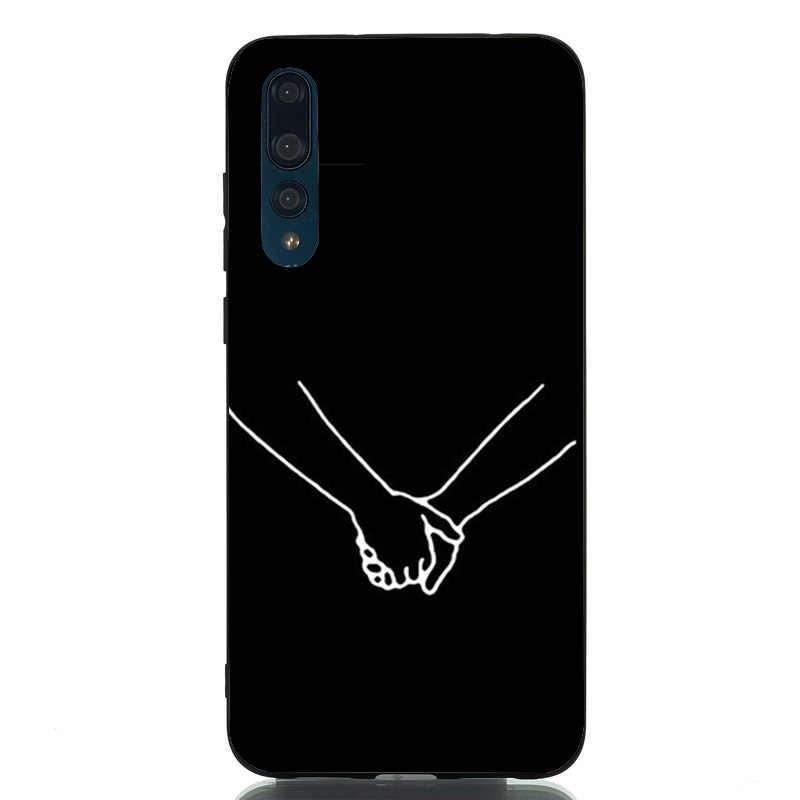 Coque Huawei 社 P30 プロケースソフト TPU ライン Coque のための Huawei 社 P30 Lite P20 Lite メイト 10 lite 1080p スマート Y6 2018 ケース