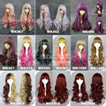 Free Shipping 60/65/70cm Color Matching Color Mixture Women Long Curly Wigs Cosplay Wig for The Super Dimension Fortress Macross