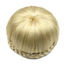 Soowee 6 Цвета Синтетические Волосы Высокая Температура Волокна Клип В Волосы, Заплетенные Apple Форма Волос Bun Donut Ролика Шиньоны Chignon