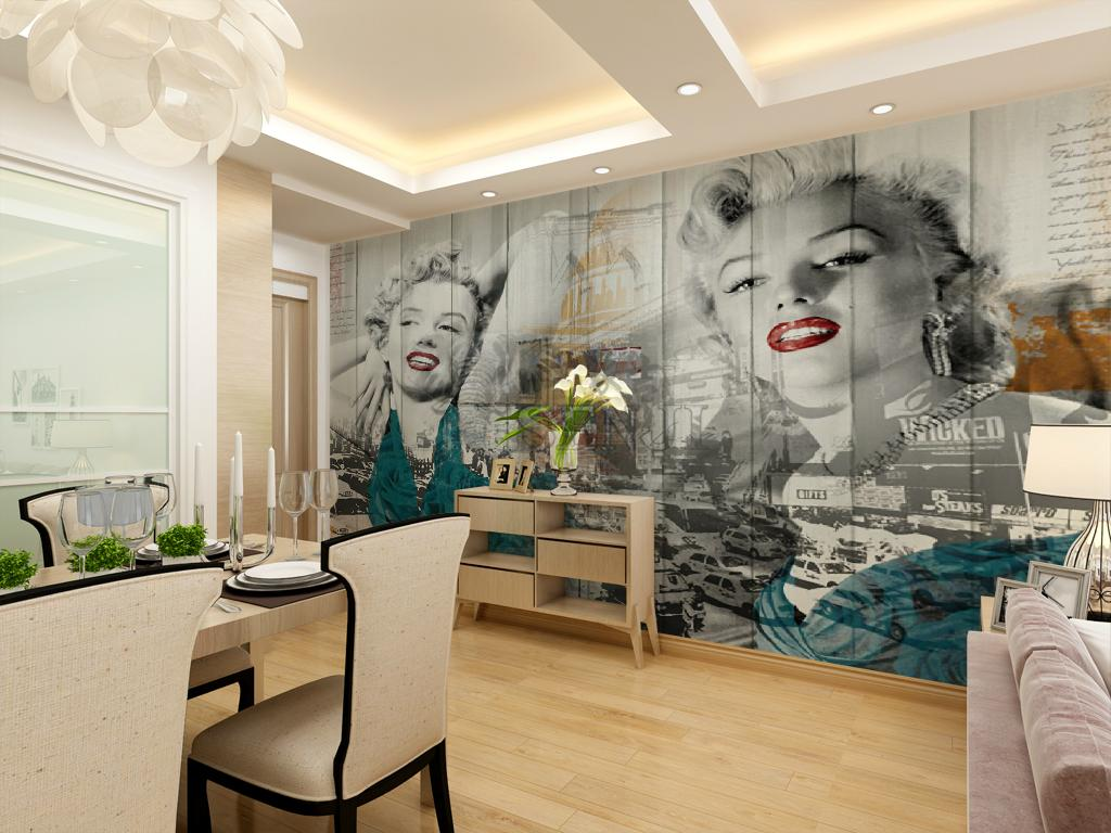 New Marilyn Monroe Wallpaper Custom Piece Of Paper 3d Wall Murals