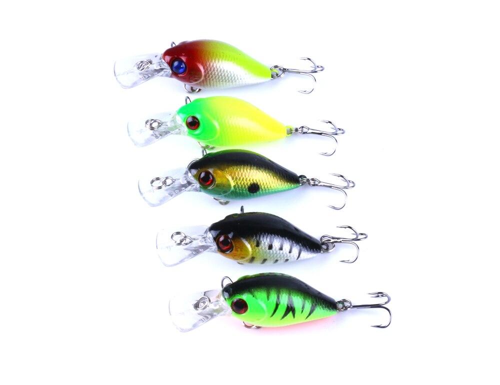 New 5Pcs Fishing Crankbait With Box Fishing Lures Set Crank Fishing Bait Trolling Wobblers Carp Fishing Tackle
