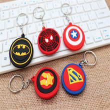 PVC Amine Cartoon Keychain Kids Child Gifts 5cm Size Cute KT Stitch Totoro and Hero Silicone Keyring Women Bag Car Keyholder(China)