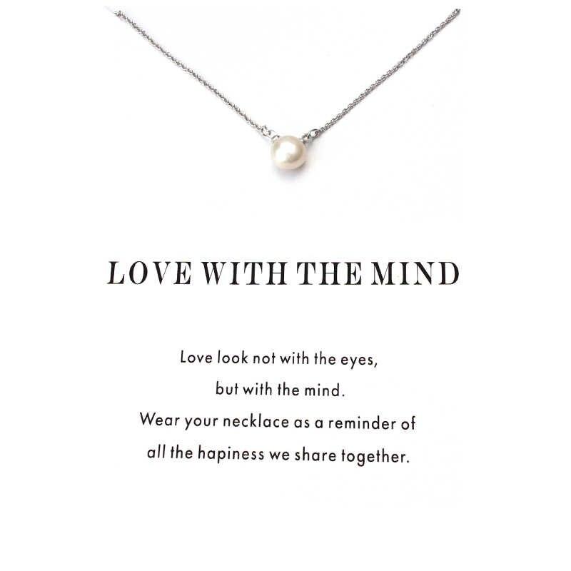 1 pc minimalistyczny sztuczna perły karta życzeń Choker Collier naszyjniki linki łańcuchy złota płyta dla kobiet oświadczenie biżuteria prezent
