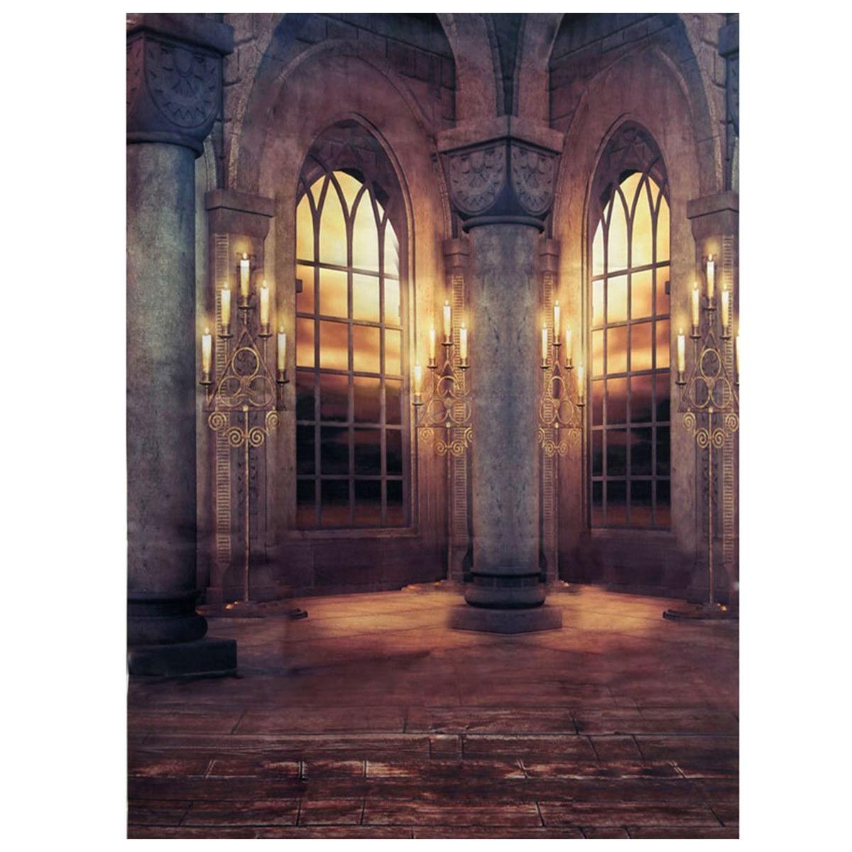 EDT-3x5FT Retro Palace Vinyl Cloth Photography Prop Studio Backdrop Photo Background
