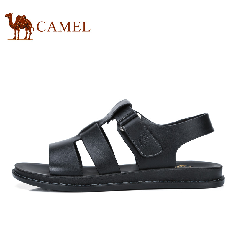 Camel men's shoes 2017 summer new leather toe beach sandals daily leisure breathable sandals A722287892