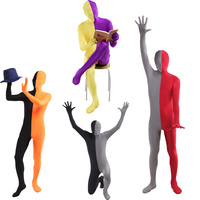 High Quality Full Body Catsuit Patchwork Zentai Unitard Lycra Spandex 2nd Skin Suit Halloween Carnival Cosplay
