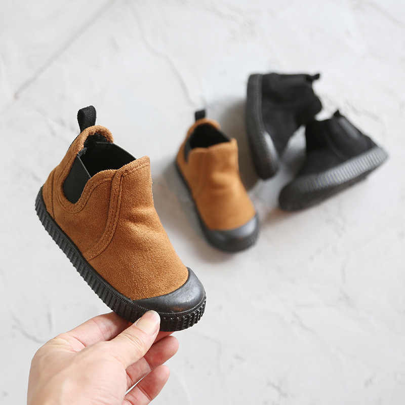 Girls Snow Boots New Children Antislip Matte Boys Shoes Flannel in Autumn and Winter of 2019 boys 1-8 years old canvas Keep warm