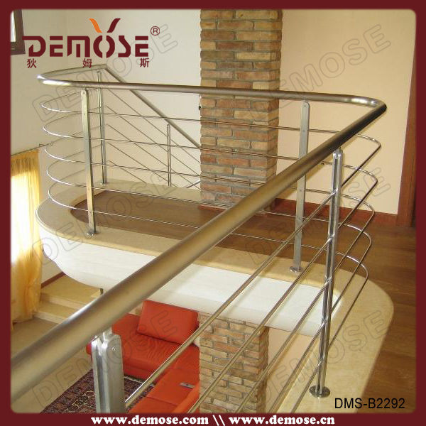 Modern House Steel Wood Stair Handrail Designs Used Guardrail For Sale