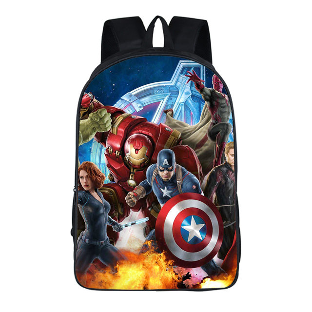 a833b48cd2 16-inch Mochilas Avengers Backpack For Teenage Boys Children School Bags  Heroes Cartoon Backpacks Captain