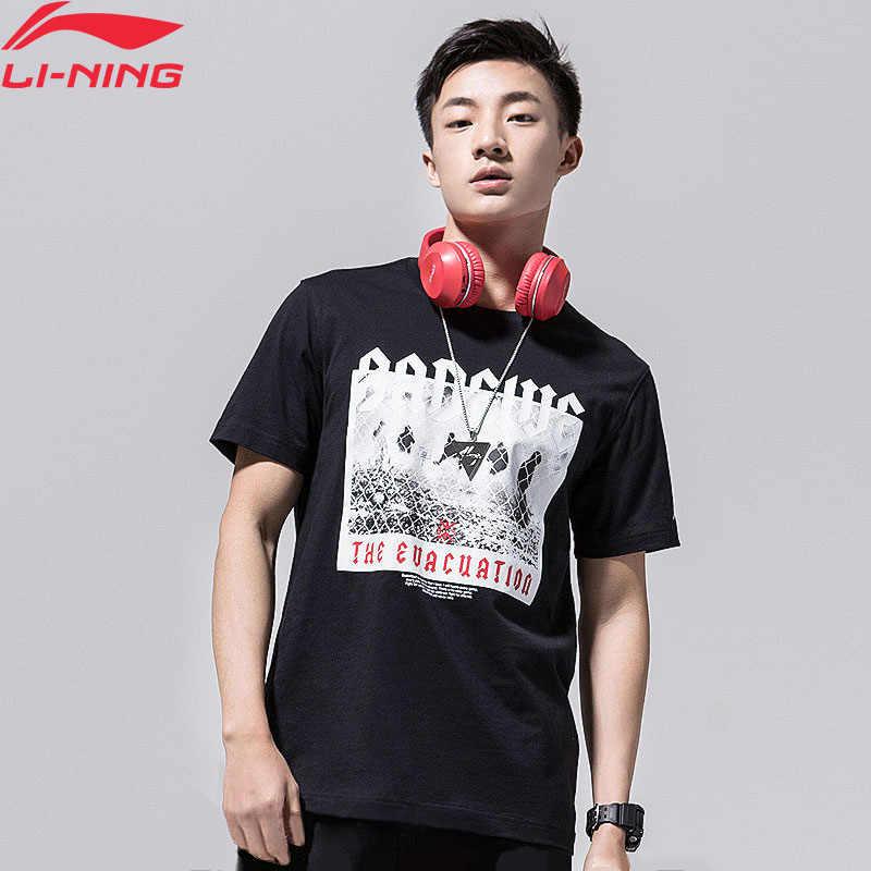 (Break Code) li-Ning Mannen Slechte Vijf Basketbal Jerseys 100% Katoen Ademende Voering Li Ning Sport T-shirt Tee AHSN289 MTS2825