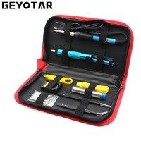 220V 60W EU Plug Electric Soldering Iron Set Adjustable Temperature Welding Repair Tool Kit With 5pcs