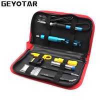 220V 60W EU Plug Electric Soldering Iron Set Adjustable Temperature Welding Repair Tool Kit With 5pcs