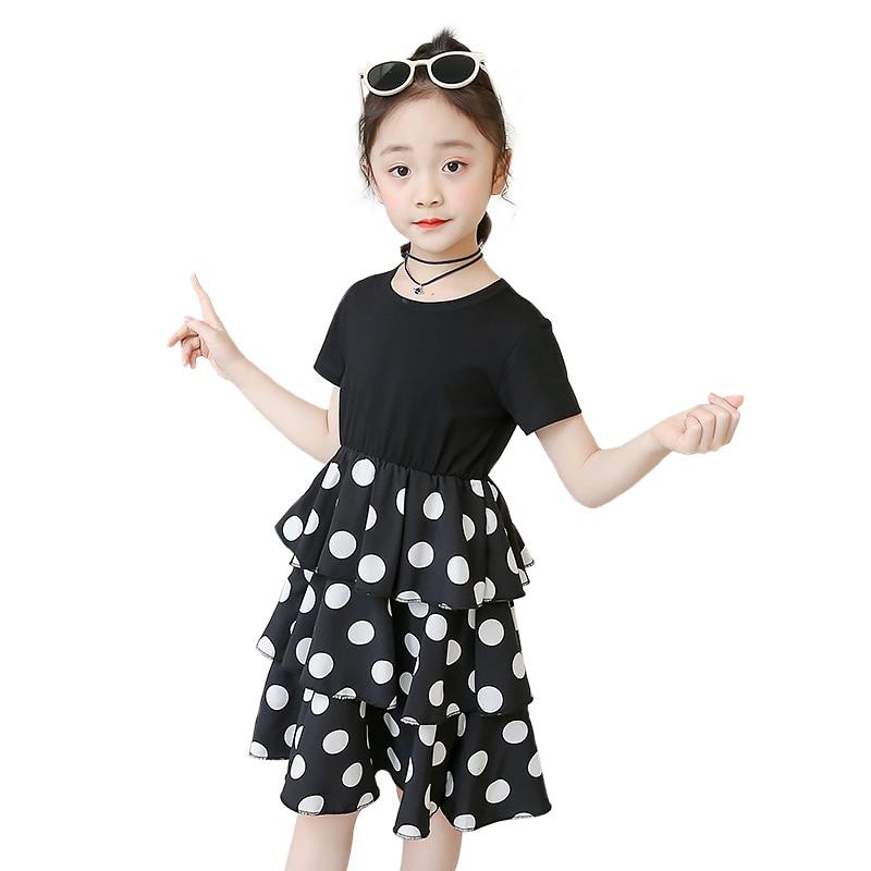 Party Dress For Girls 3 4 6 8 10 12 Years Kids Summer Clothing Children Girl Dresses Polka Dot Girls Princess Dress 3