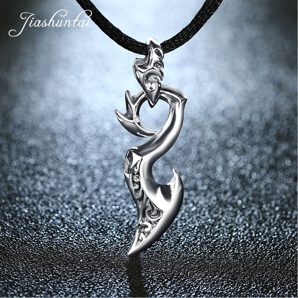 JIASHUNTAI Retro 925 Silver Sterling Pendant Necklace Dragon Wing Silver Jewelry For Cool MenJIASHUNTAI Retro 925 Silver Sterling Pendant Necklace Dragon Wing Silver Jewelry For Cool Men