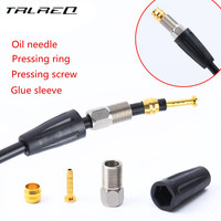 30Sets MTB Bicycle Hydraulic Disc Brake Oil Pipe Accessories Pressing Screw Glue Sleeve Pressing Screw+Pressing Ring+Oil Needle