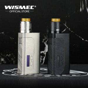 Image 2 - [במלאי] מקורי Wismec Luxotic MF תיבת ערכת עם גיליוטינה V2 RDA טנק עם 7ml squonk בקבוק משתמש 21700/18650 e סיגריות Mech ערכת