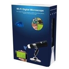 Мини HD wifi цифровой микроскоп камера 50~ 1000X 8LED Поворотная база Беспроводной электронный Микроскоп для Android/для iOS/для Windows