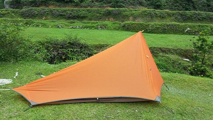 Livraison gratuite Black Hawk édition extrême! ultra léger 680 grammes 1 2 double croisement Keystone montagne silicone nylon gaze tente - 2
