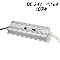 10Pcs 24V 4.16A 100W IP67 Waterproof Switch Power Supply Driver for LED Strip AC 220 240V To DC24V Transformer Aluminum