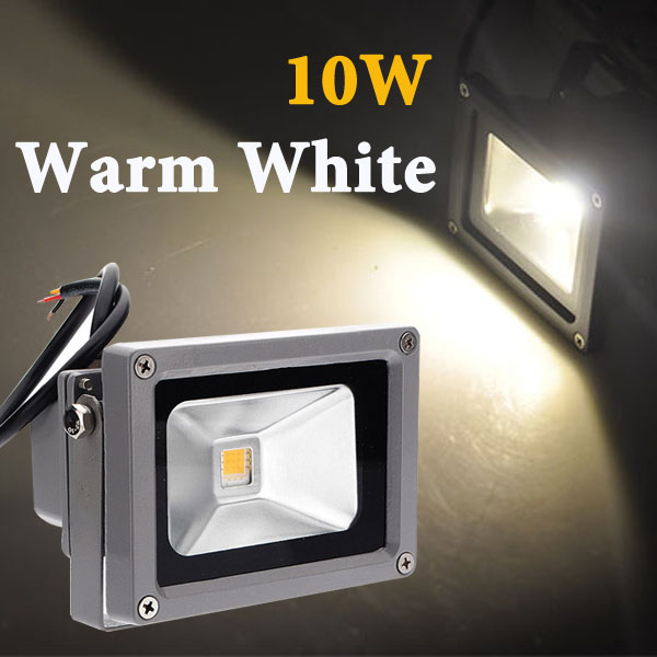 DC 12V Floodlight 10W LED 1000LM Spotlight Lamp Energy Saving Aluminum Outdoor Waterproof Warm White|Floodlights| |  - title=