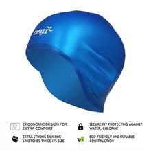 COPOZZ Silicone Waterproof 3D elastic Swimming Caps for Men Women Long Hair Swimming Hat Cover Ear Bone Pool adult swim cap