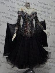 Новое стандартное танцевальное платье, платья для конкурса бальных танцев, платья для соревнований по танцам, шифоновое платье, женские тан...