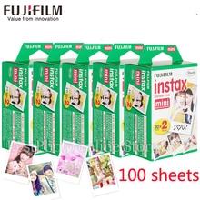 100 blätter Fuji Fujifilm instax mini 8 9 film weißen Rand filme für instant-mini 8 7 s 25 50 s 9 90 Kamera fotopapier Freies geschenk
