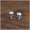 925 Sterling Silver Skull Earrings Studs Set Small Rock Punk Gothic Retro Jewelry For Men And Women Brinco Masculino