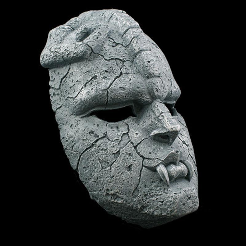 Image 2 - Stone Ghost Full Face Resin Mask Juvenile Comics JOJO Amazing  Adventures Gargoyle Theme Masks Halloween Masquerade Party  Propsmasquerade partyresin maskmask halloween
