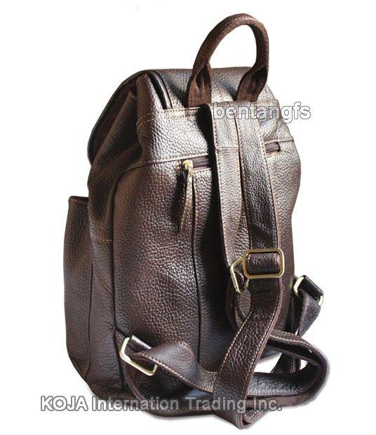 New 2015 Korean Style Genuine Leather Mens Backpack Travel Bag Leather School Backpack For Teenage Book Bag Black Brown M150 Luggage & Bags Men's Bags