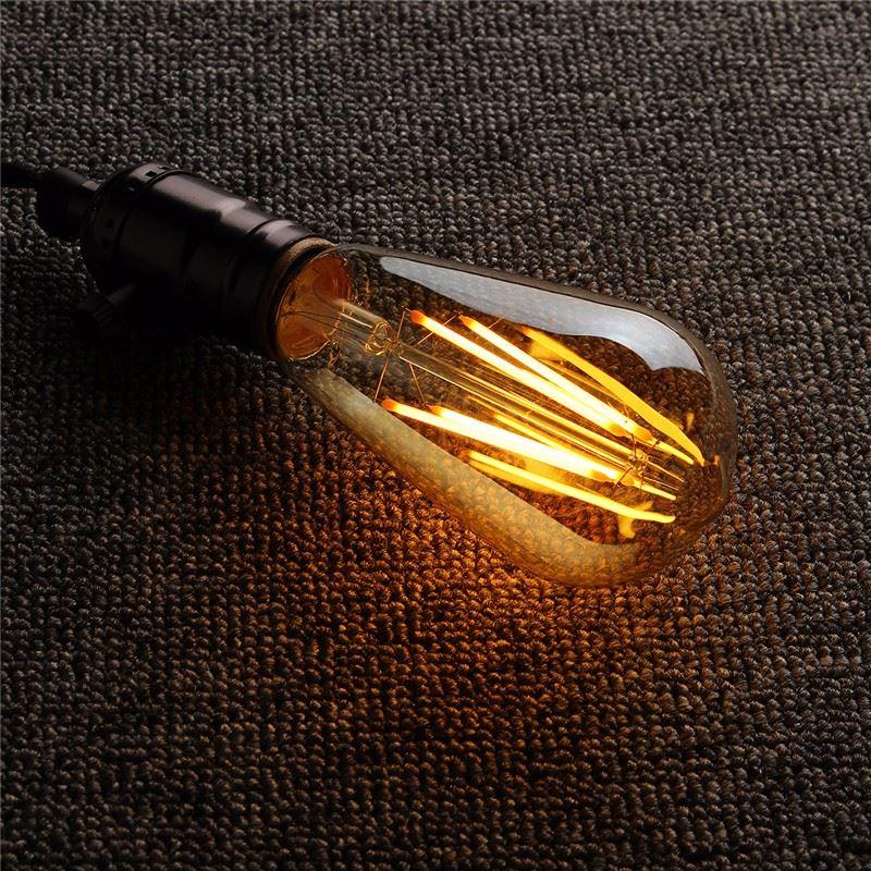 Vintage LED Light Bulb Edison Bulb B22 E27 ST64 Dimmable LED 4W Retro Squirrel Cage Filaments Lamp Bulb Warm White Ligthing 220V 5pcs e27 led bulb 2w 4w 6w vintage cold white warm white edison lamp g45 led filament decorative bulb ac 220v 240v