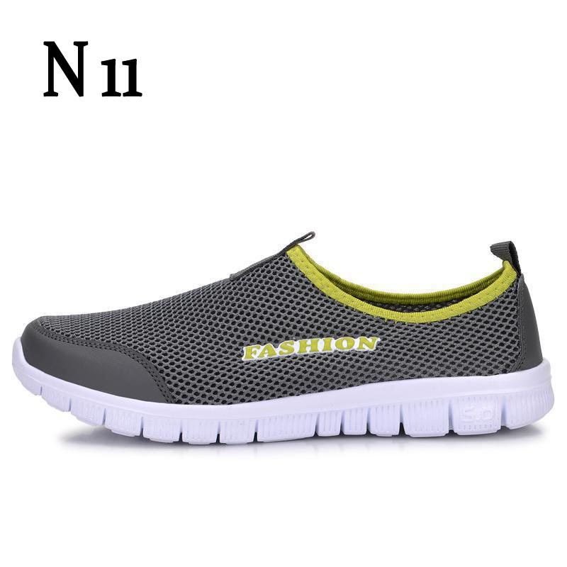 2017 men casual shoes summer lightweight mesh breathable lace up flat fashion light hollow cosy comfort male shoes plus size N11 Men Shoes Fashion 2017 Summer Comfortable Men Casual Shoes Mesh Breathable Flat Shoes Cheap Shoes Plus Size 34-46