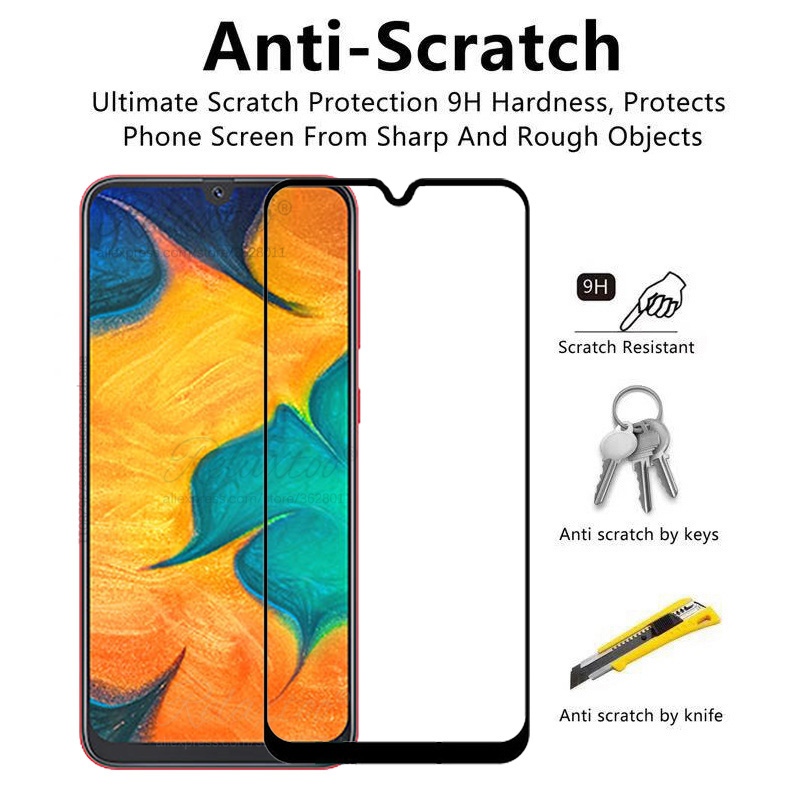 Image 4 - Tempered Glass For Samsung Galaxy A20 A30 A40 A50 protective Glass on the For Samsung A 20 30 40 50 A305F A405F A505F front film-in Phone Screen Protectors from Cellphones & Telecommunications
