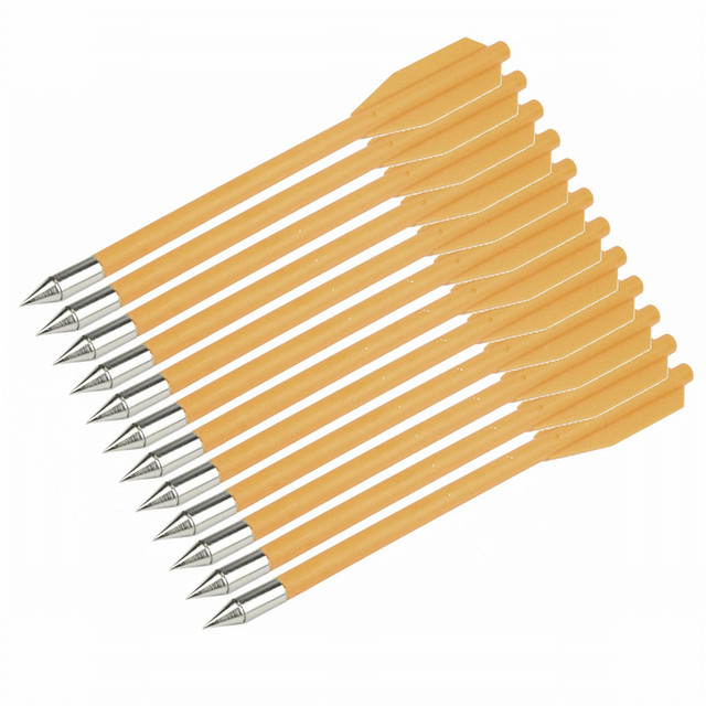 12Pcs Archery Arrows Target Hunting Replacement for Crossbow Bolt Archery Recuve & Compound Bow Recurve Bow Practice Arrows