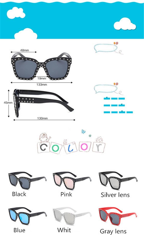 Diamond  Kids Sunglasses Children Sun Glasses Baby Eyeglasses Boys Girls UV400 Outdoor Decoration (11)