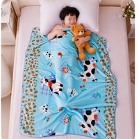 Single layer baby cartoon blanket newborn and children blanket for spring and summer Coral fleece