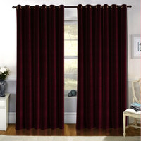 High Quality Terry Velvet Luxury Curtains Draperies Thickening Soundproofing Insulation Blackout Curtains for Bedroom Windows