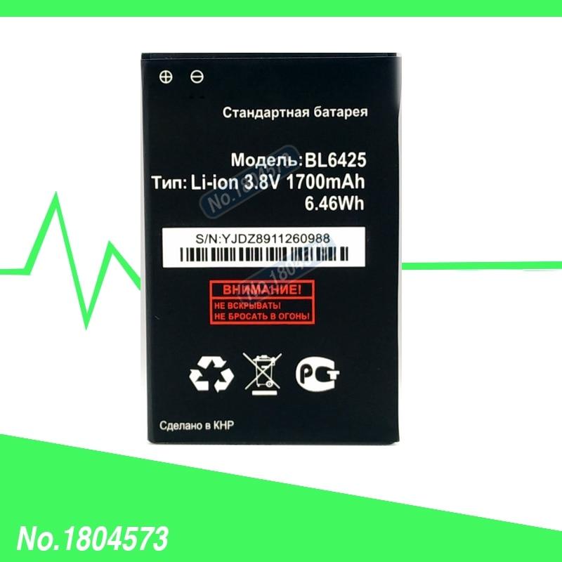Nouveau pour Fly BL6425 Batterie BL 6425 Batteries FS454 Nimbus 8 Batterie 1700 mAh 3.8 V 1 PC/Lot