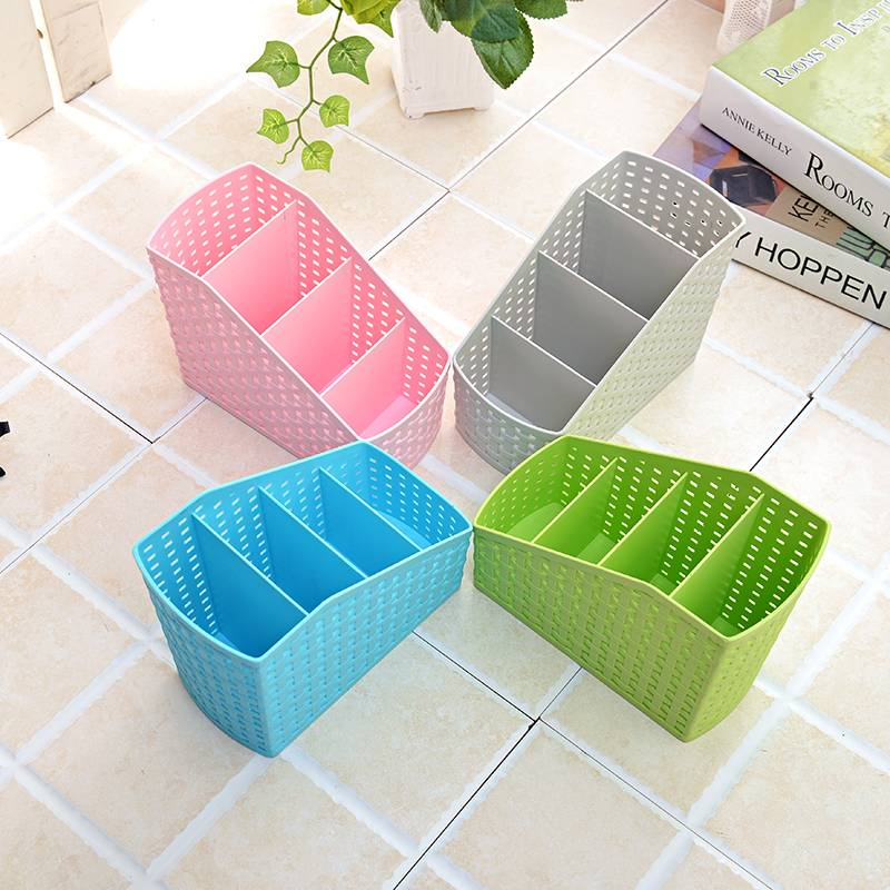 Imitation rattan box storage box cosmetics, desktop remote control miscellaneous storage box 4 New