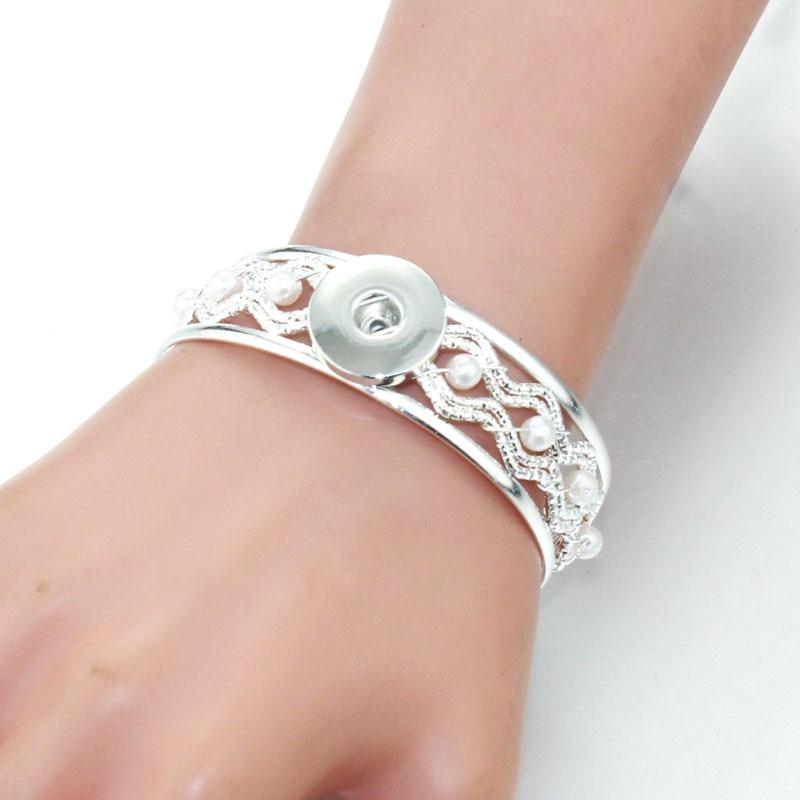 Snap Button Bracelet Bracelets Fashion Jewelry fit 18 mm Snap Bouton À faire soi-même Bijoux